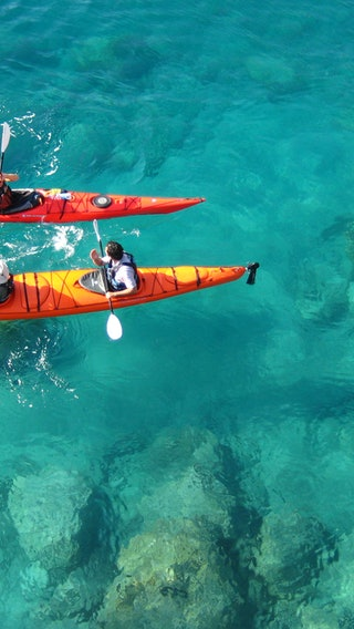 Enjoy the Canoe Ride With Turquoise Water