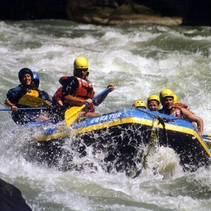 Rafting with friends at Kaş
