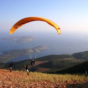 Tandem Paragliding at Kas
